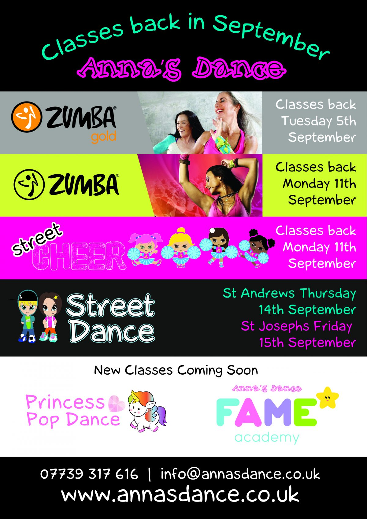 Street Cheer and Street Dance back this week